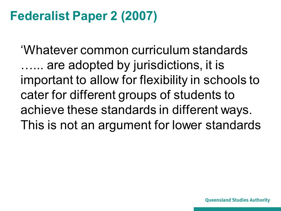 Federalist Paper 2 (2007)
