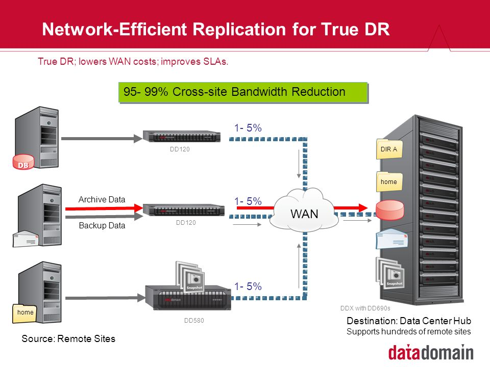 Network-Efficient Replication for True DR