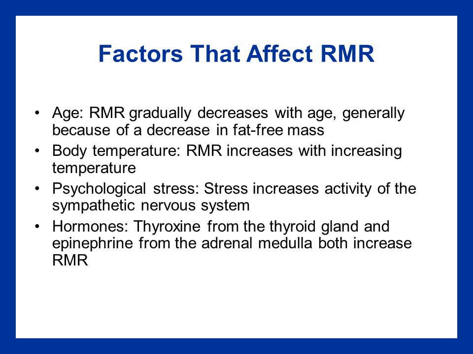 Factors That Affect RMR