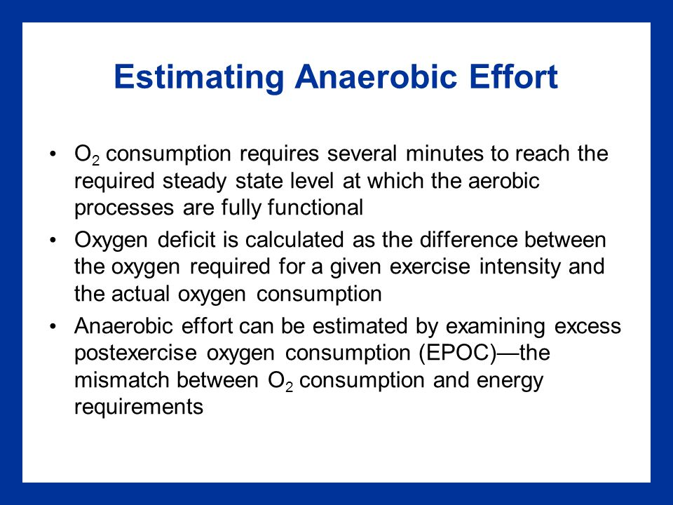 Estimating Anaerobic Effort
