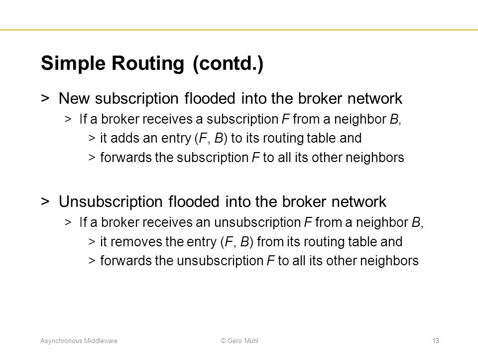 Simple Routing (contd.)
