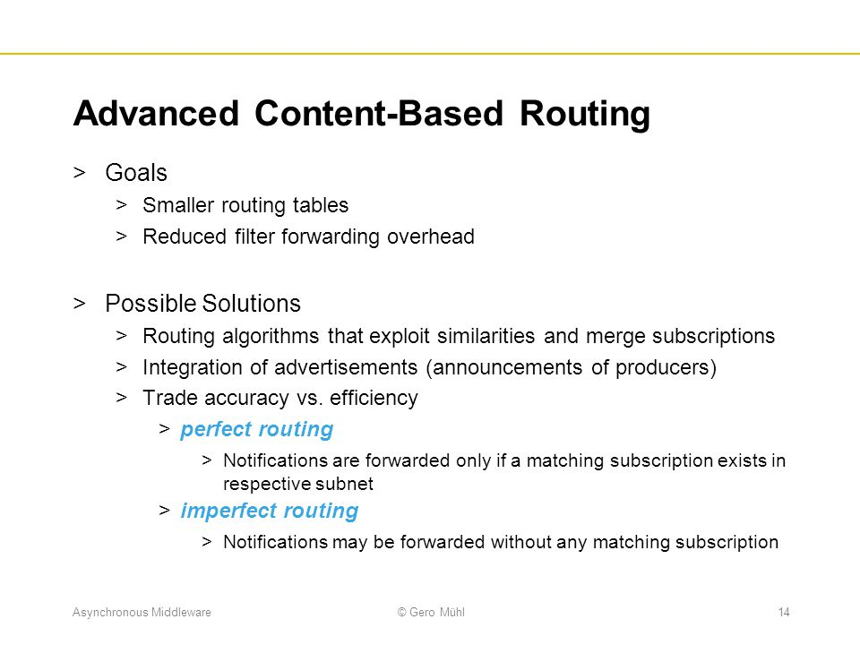 Advanced Content-Based Routing