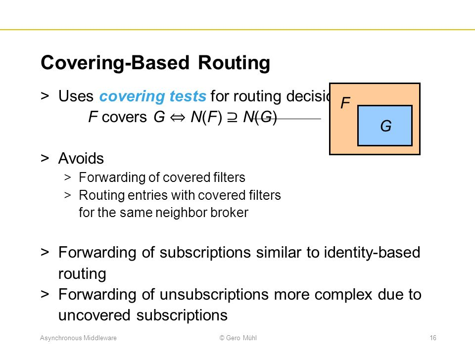Covering-Based Routing