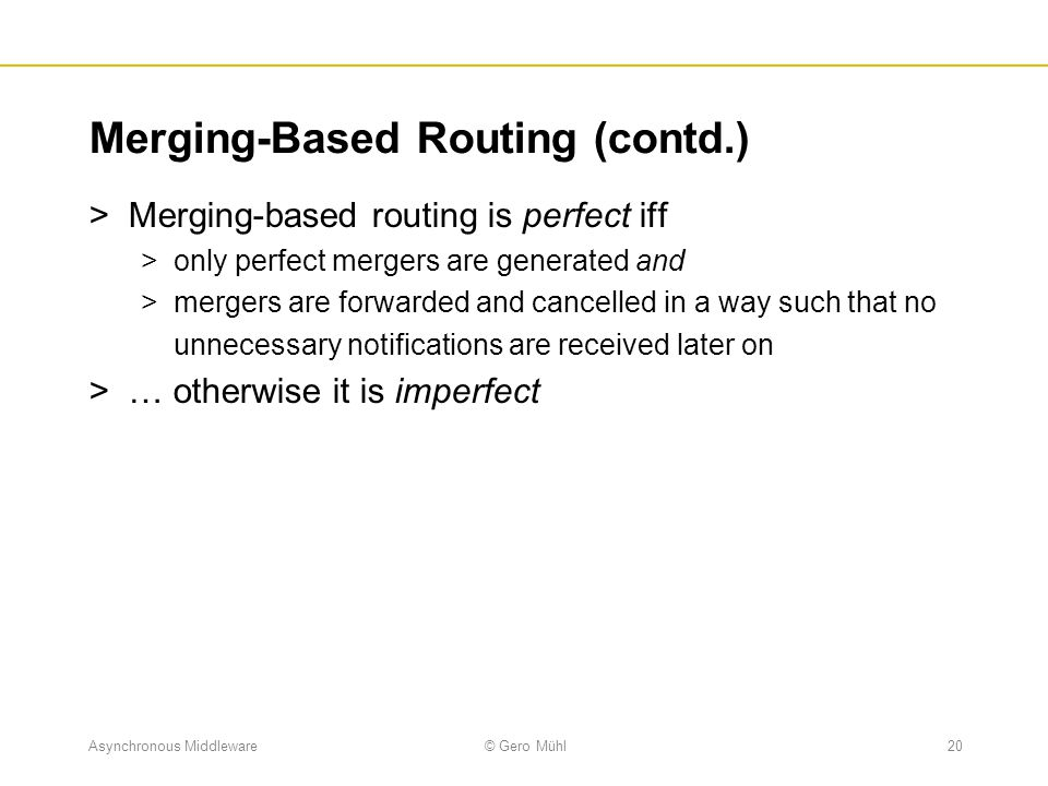Merging-Based Routing (contd.)