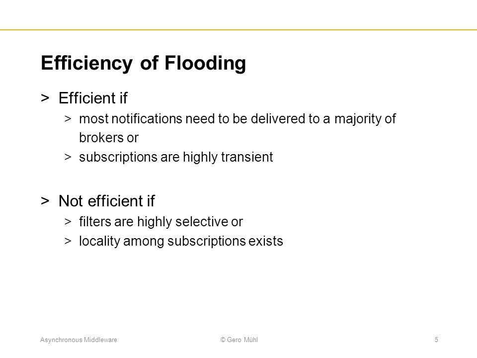 Efficiency of Flooding