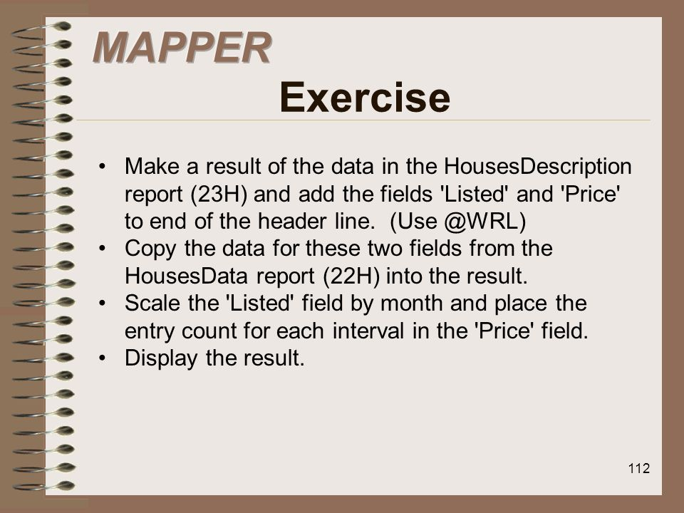 MAPPER Exercise