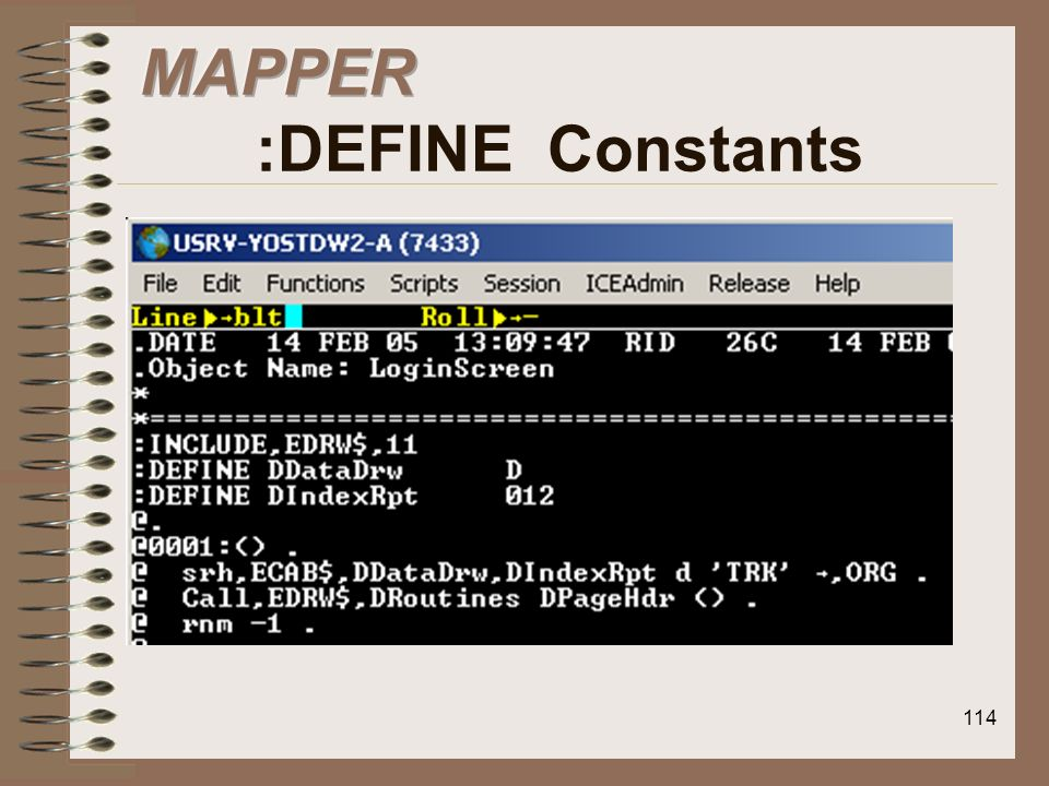 MAPPER :DEFINE Constants