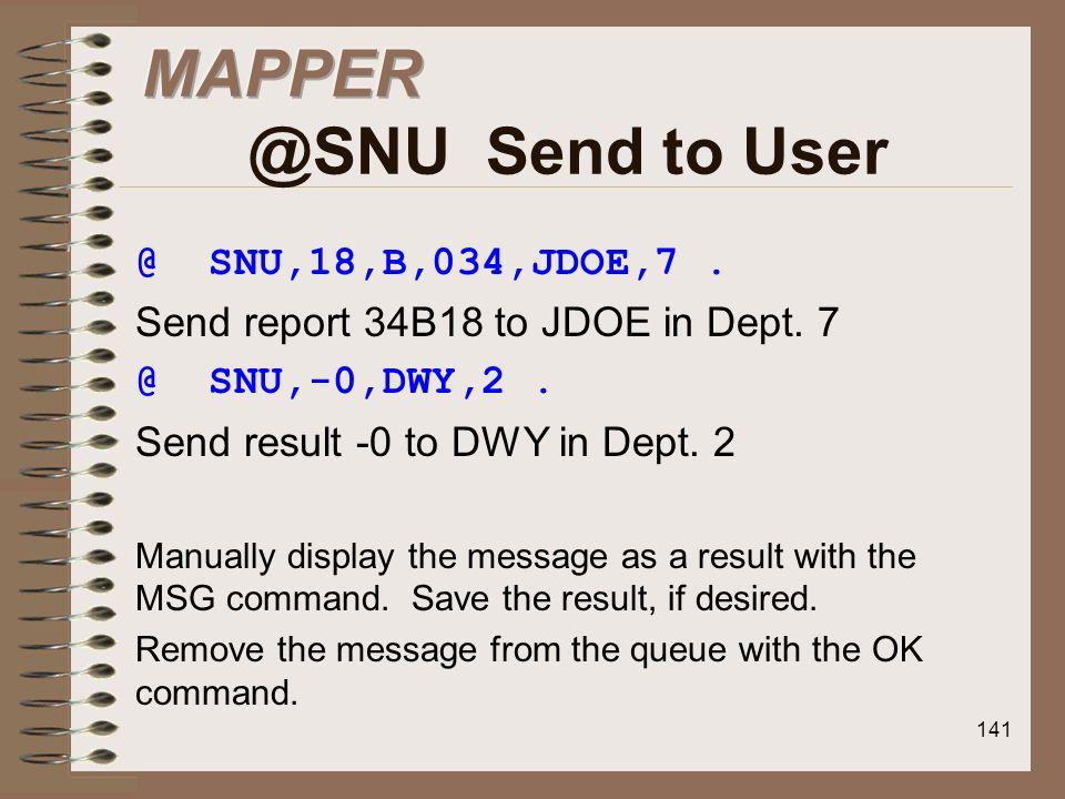 MAPPER @SNU Send to User