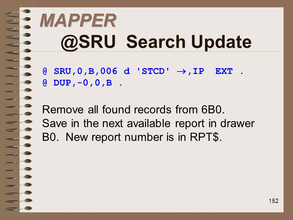 Search Update