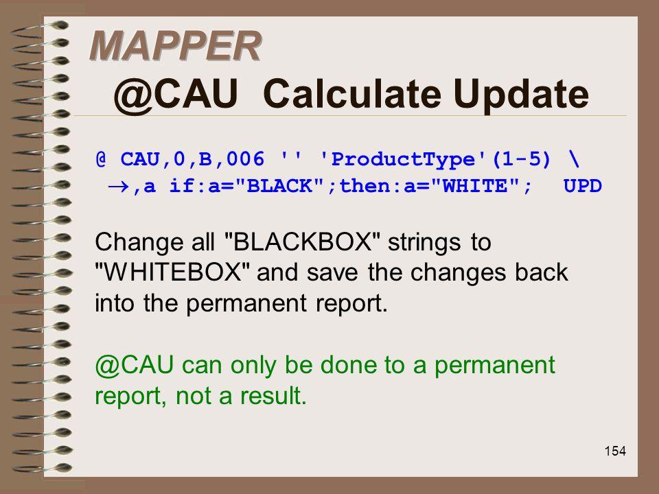 MAPPER @CAU Calculate Update