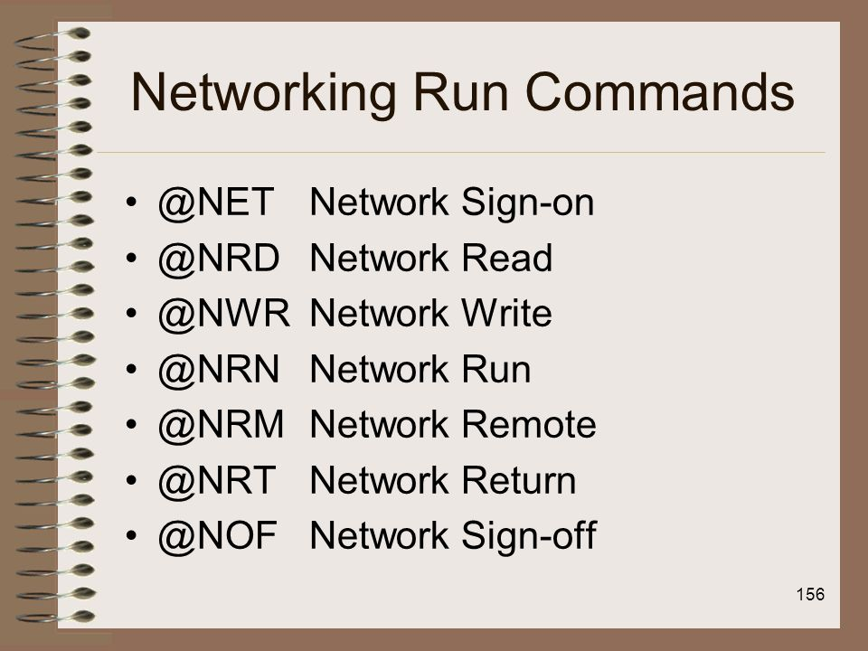 Networking Run Commands