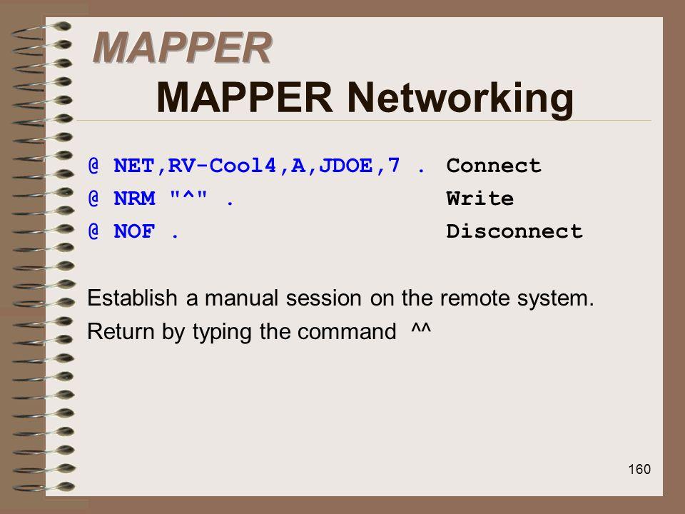 MAPPER MAPPER Networking