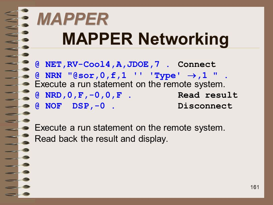 MAPPER MAPPER Networking