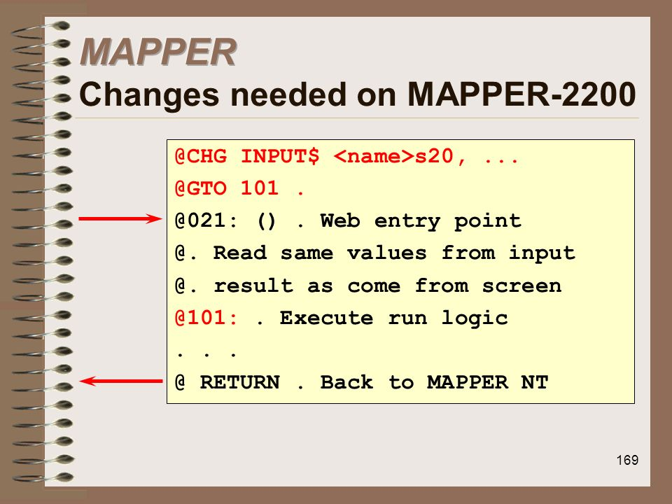 MAPPER Changes needed on MAPPER-2200