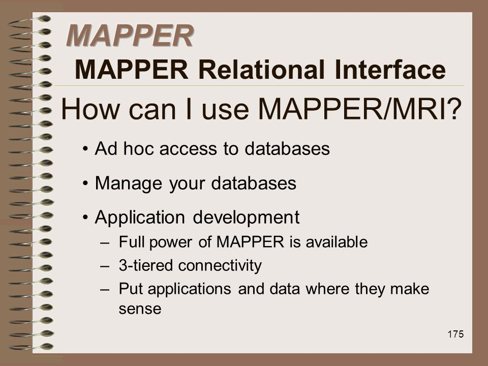 How can I use MAPPER/MRI