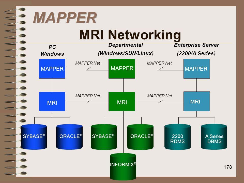 MAPPER MRI Networking MAPPER MRI Departmental (Windows/SUN/Linux)