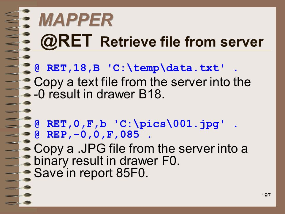 Retrieve file from server