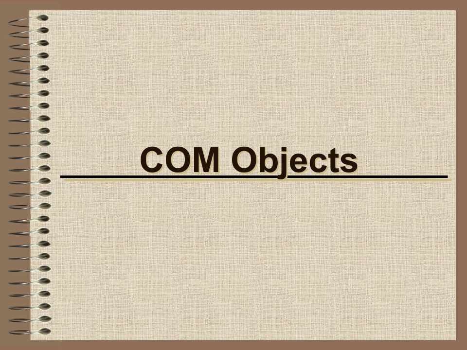 COM Objects