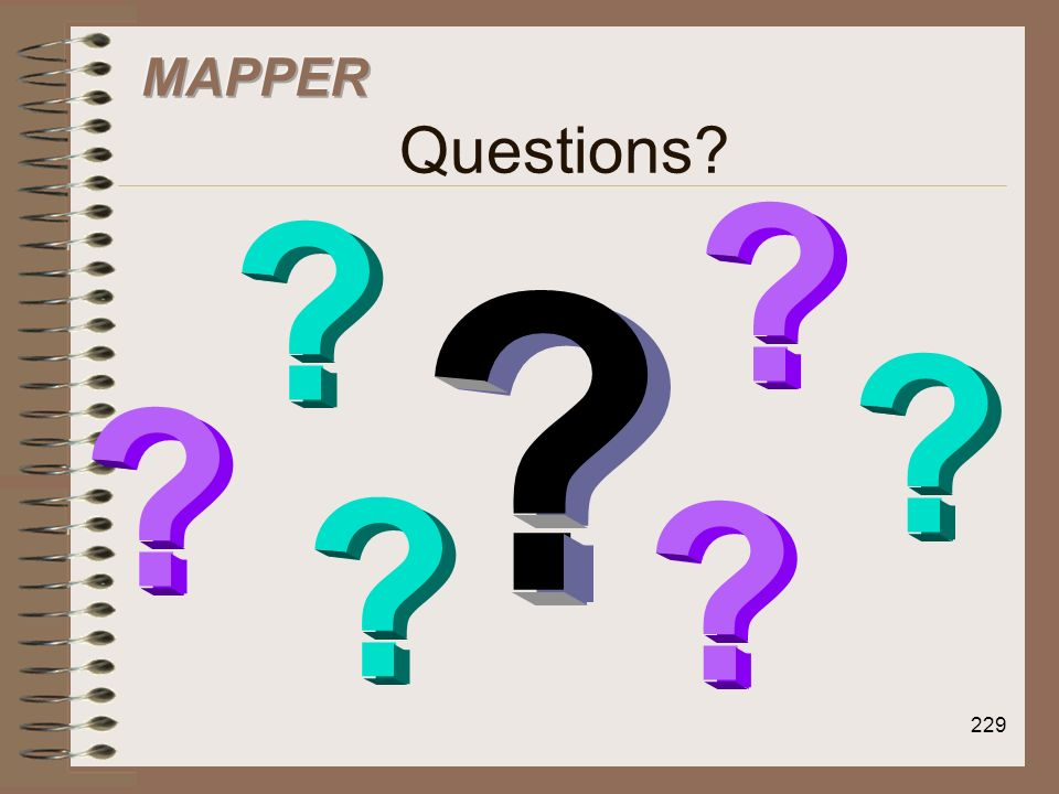 MAPPER Questions