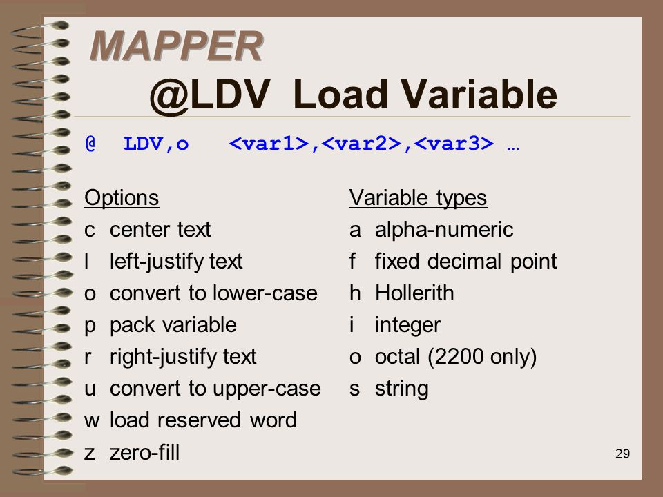 Load Variable