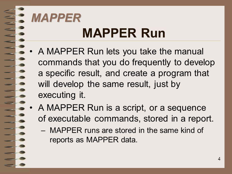 MAPPER MAPPER Run
