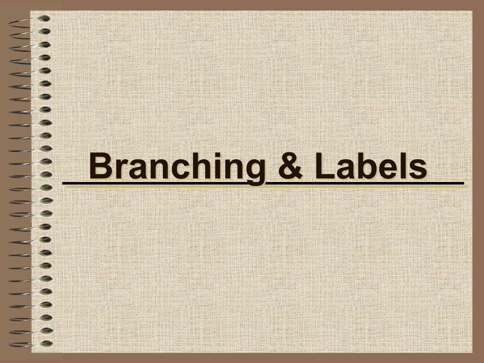 Branching & Labels