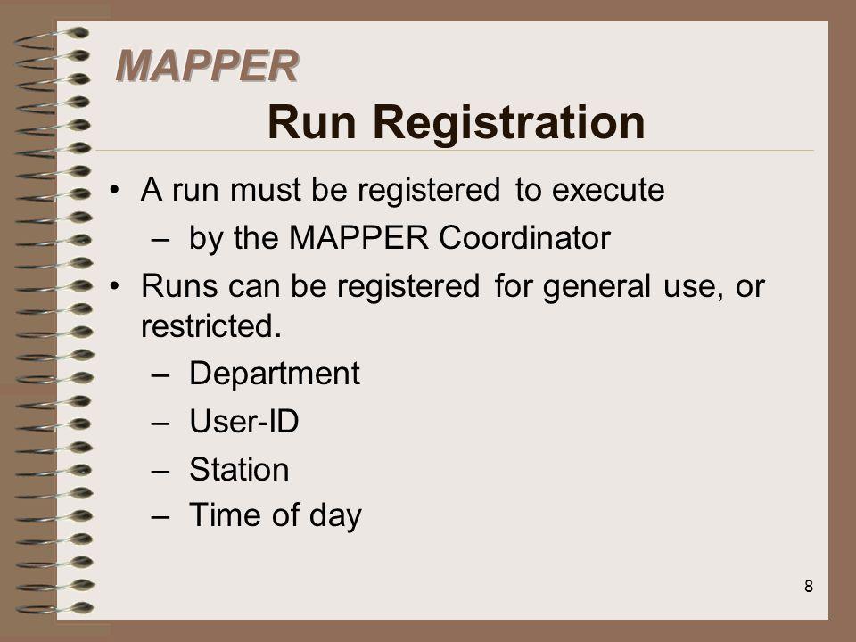 MAPPER Run Registration