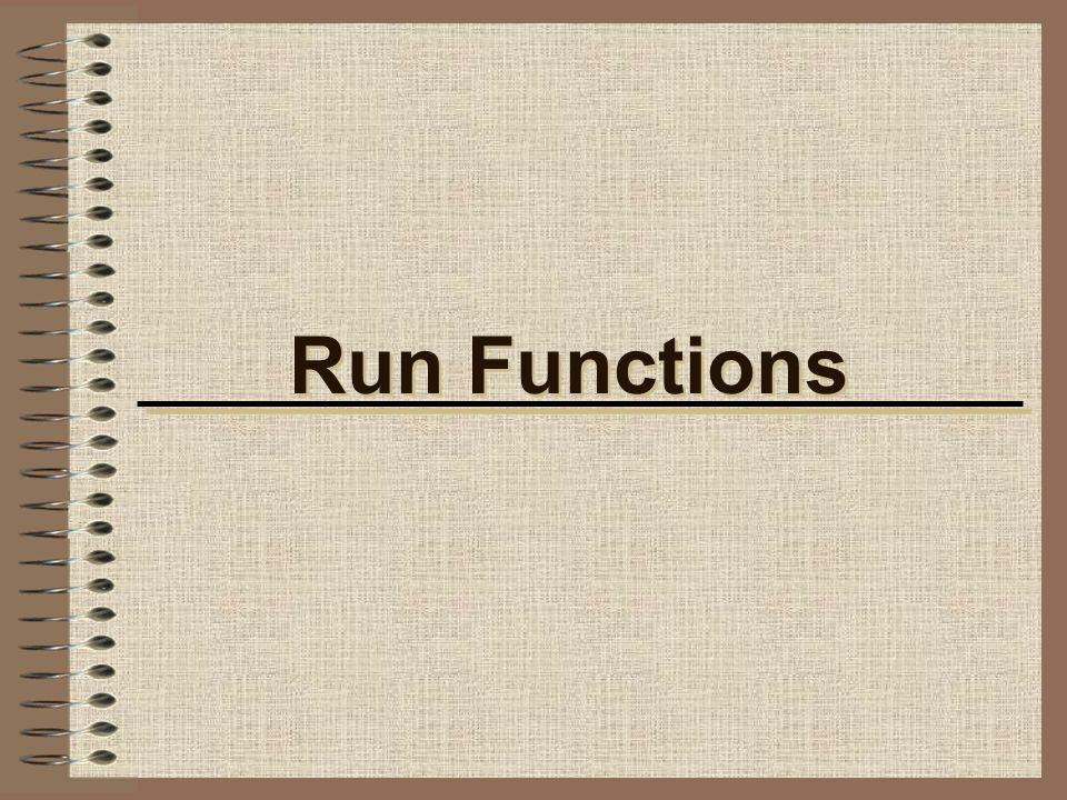 Run Functions