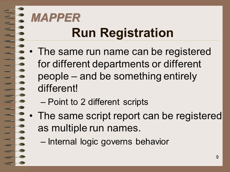 MAPPER Run Registration