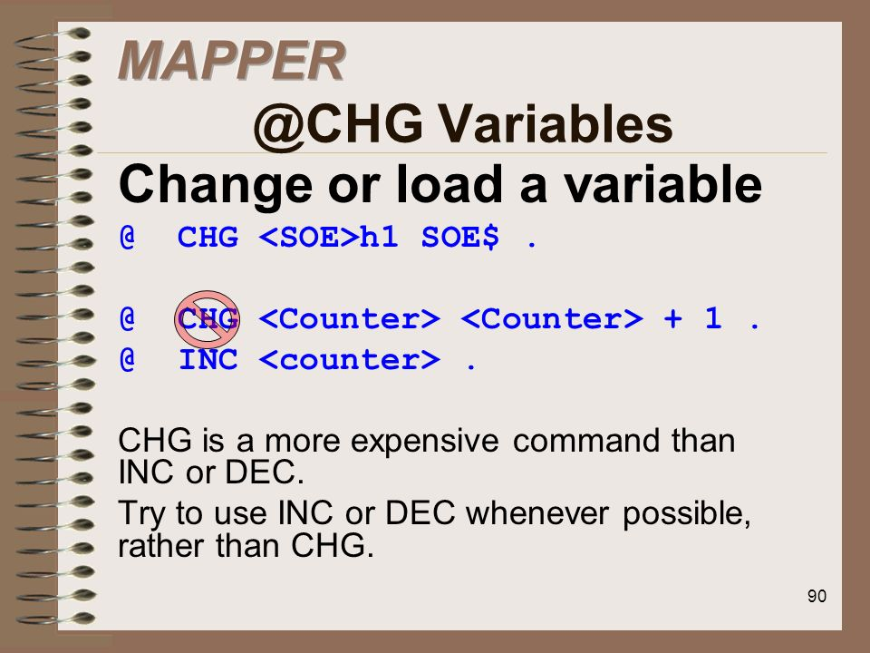 Change or load a variable
