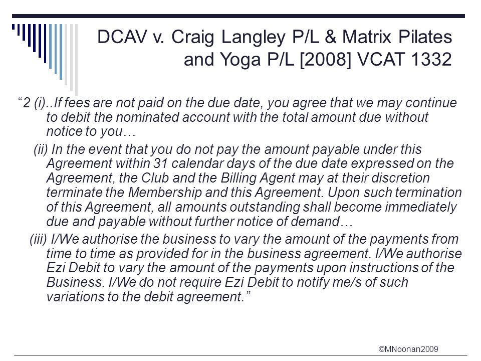 DCAV v. Craig Langley P/L & Matrix Pilates and Yoga P/L [2008] VCAT 1332