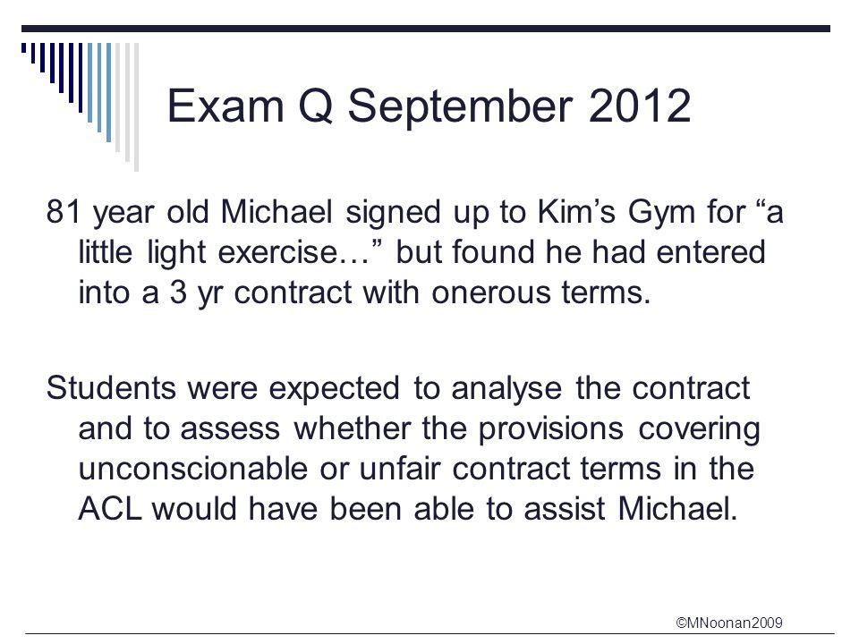 Exam Q September 2012
