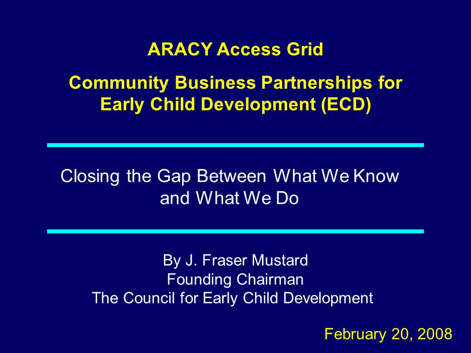 Community Business Partnerships for Early Child Development (ECD)