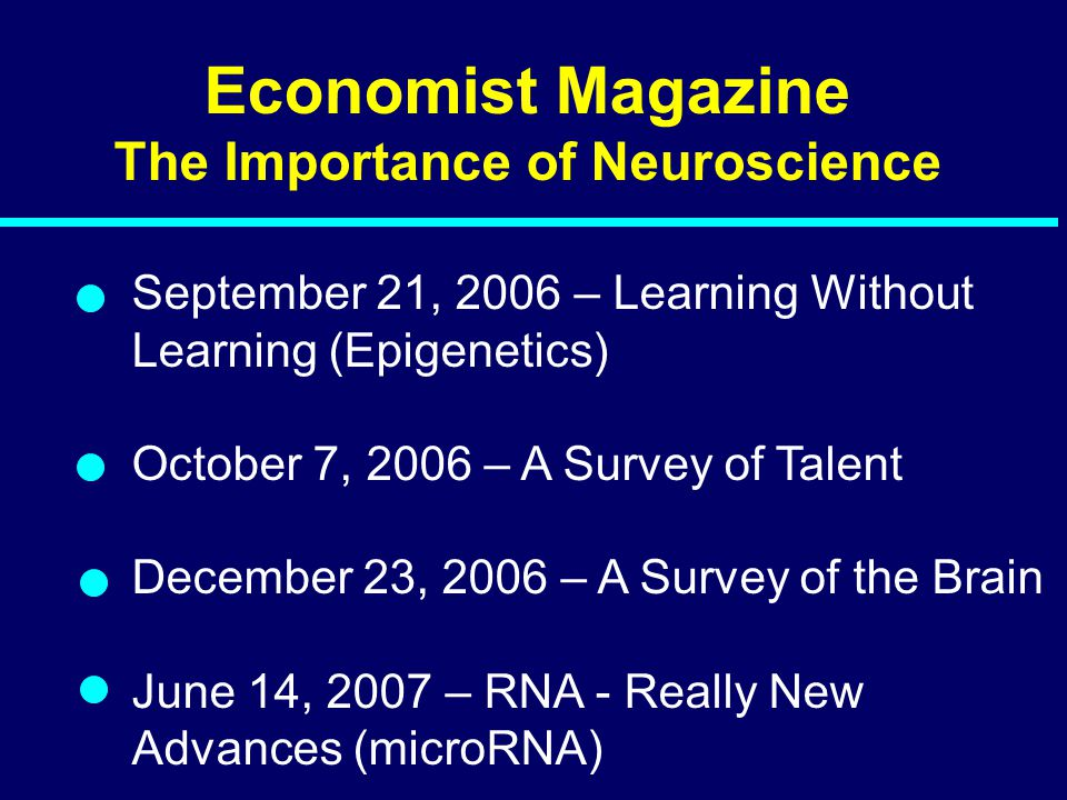 The Importance of Neuroscience