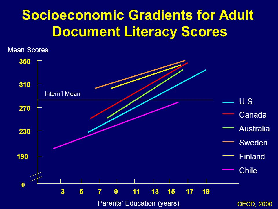 Socioeconomic Gradients for Adult Document Literacy Scores