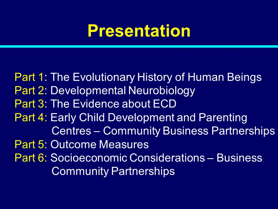 Presentation Part 1: The Evolutionary History of Human Beings