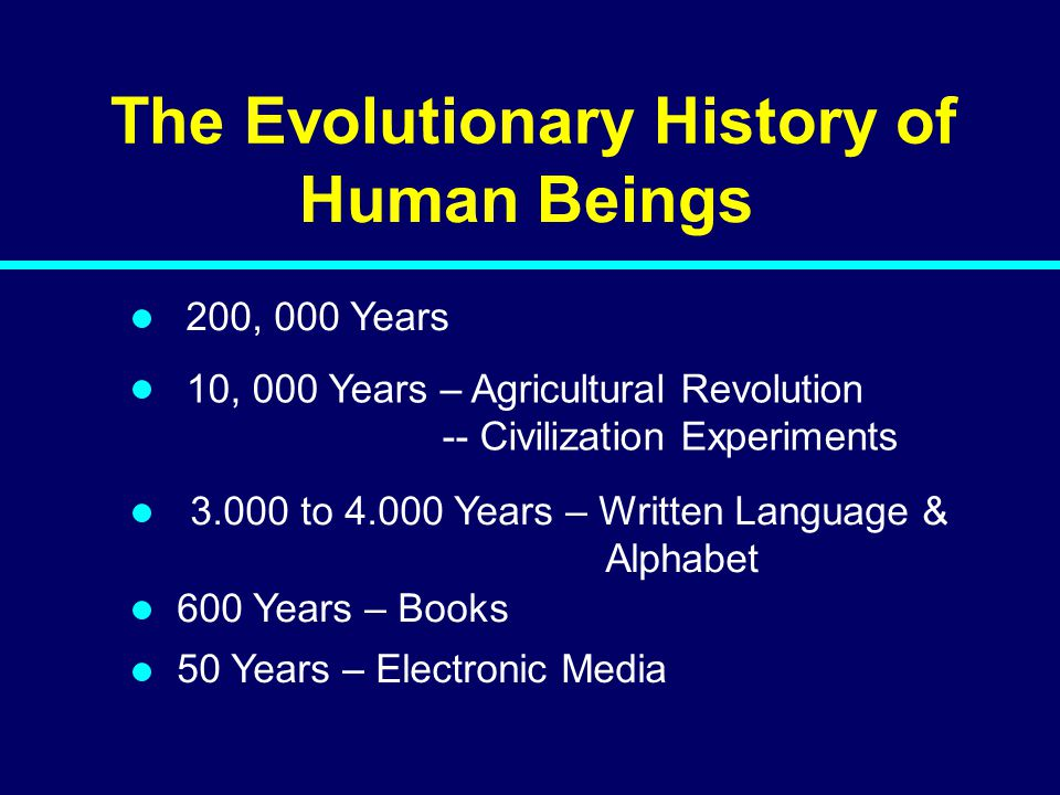 The Evolutionary History of