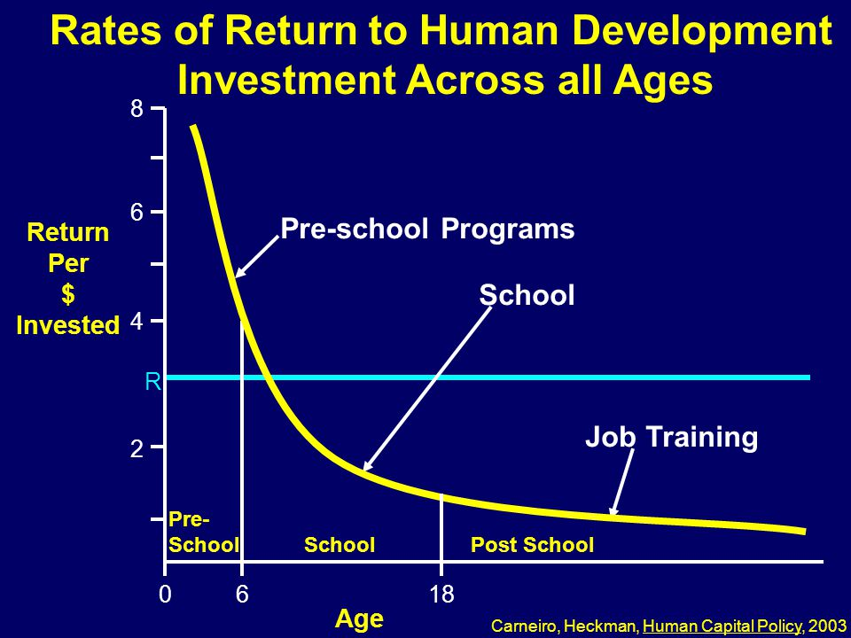 Rates of Return to Human Development Investment Across all Ages