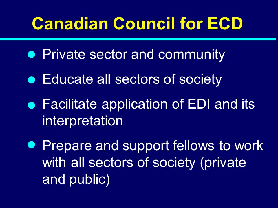 Canadian Council for ECD