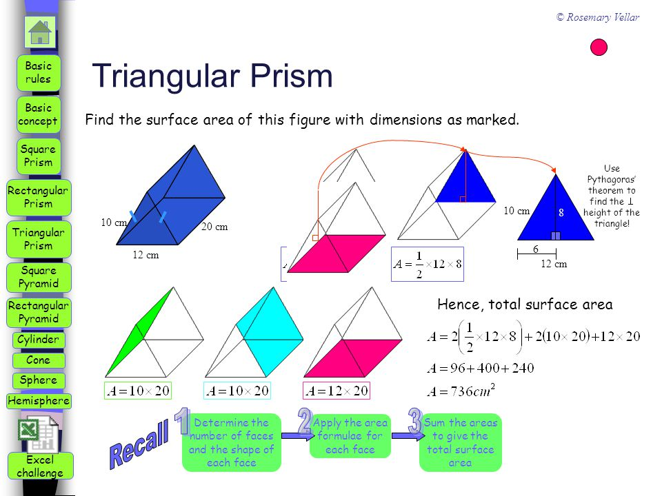 Triangular Prism 1 2 3 Recall