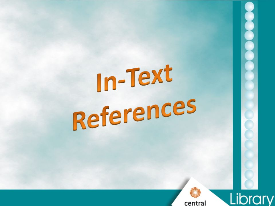 In-Text References