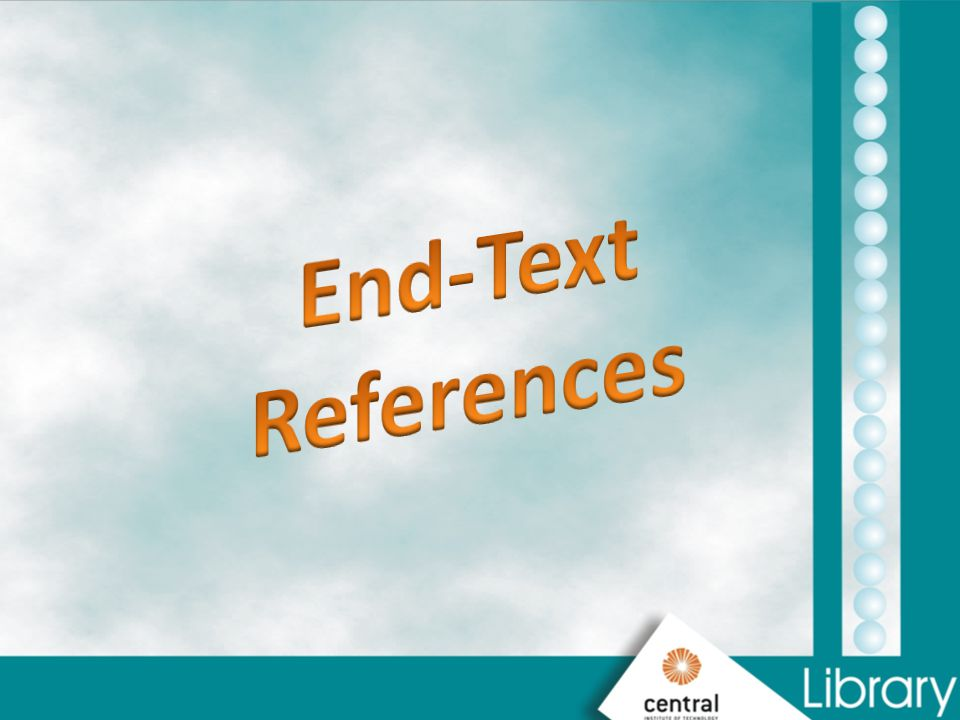 End-Text References