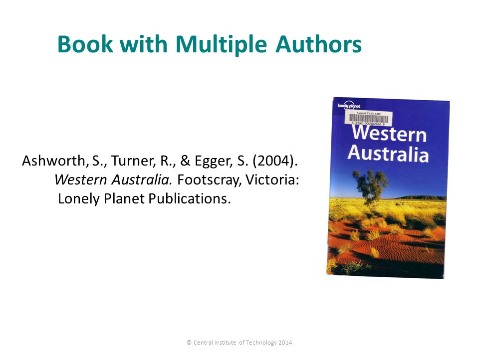Book with Multiple Authors