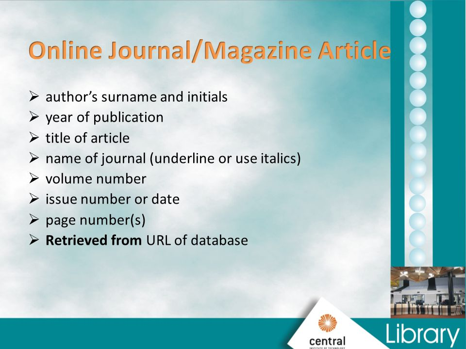 Online Journal/Magazine Article
