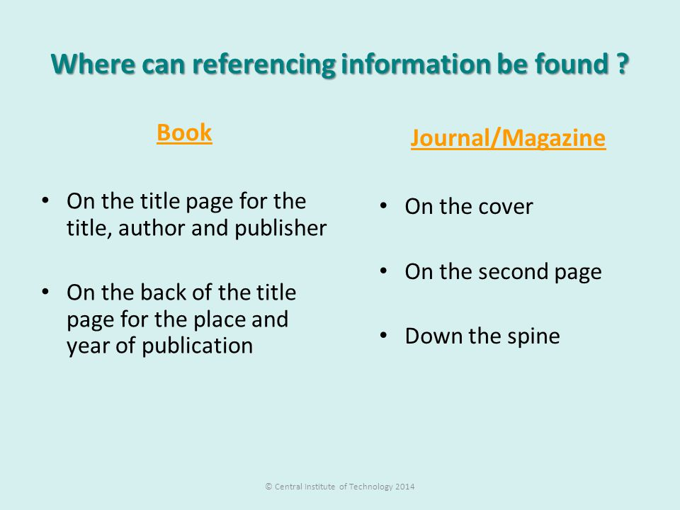 Where can referencing information be found