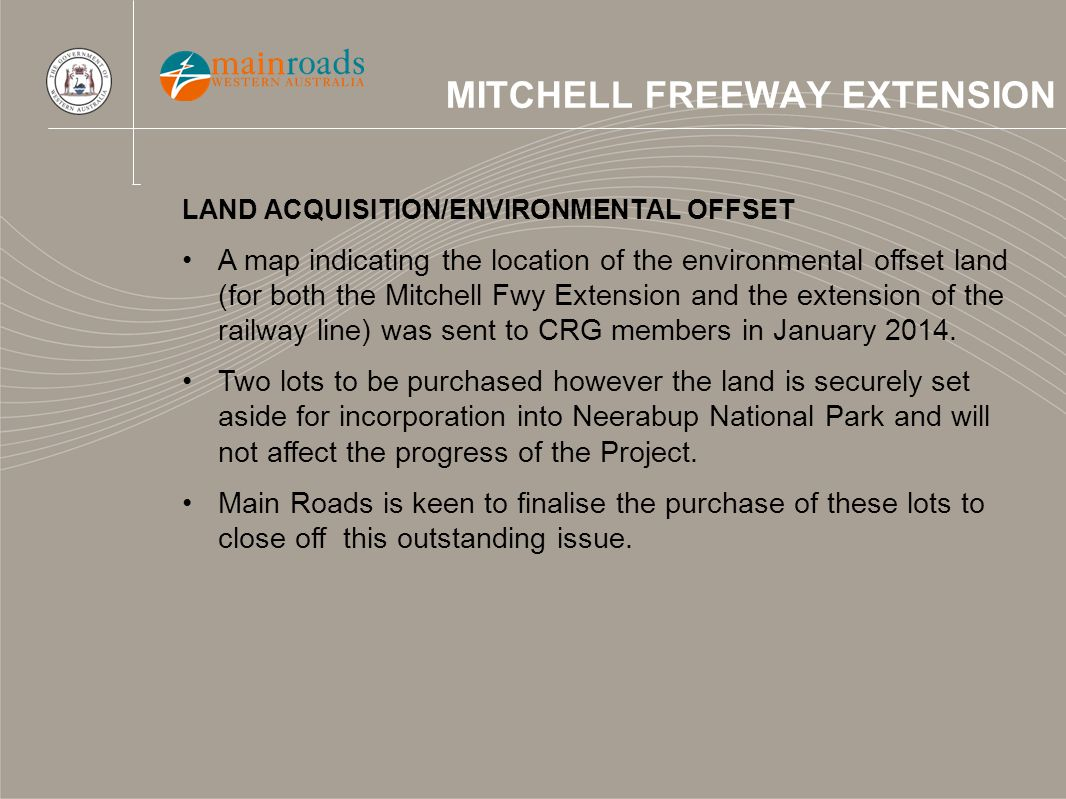 MITCHELL FREEWAY EXTENSION