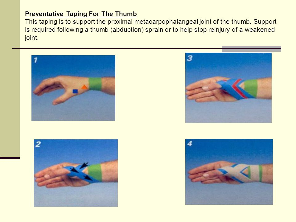 Preventative Taping For The Thumb