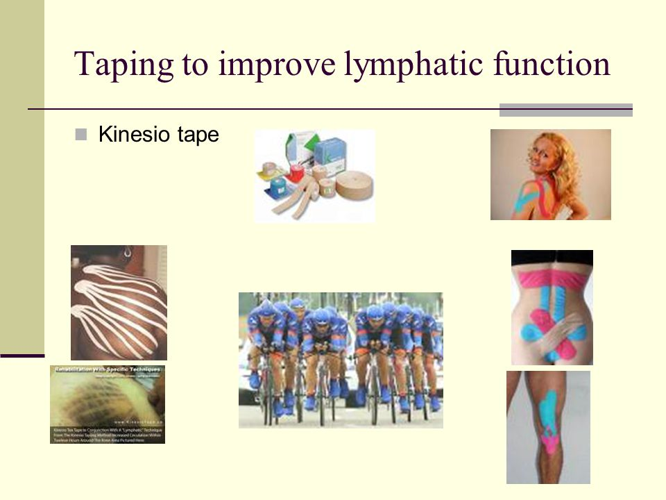 Taping to improve lymphatic function