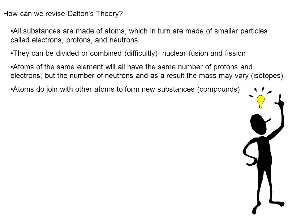 How can we revise Dalton's Theory