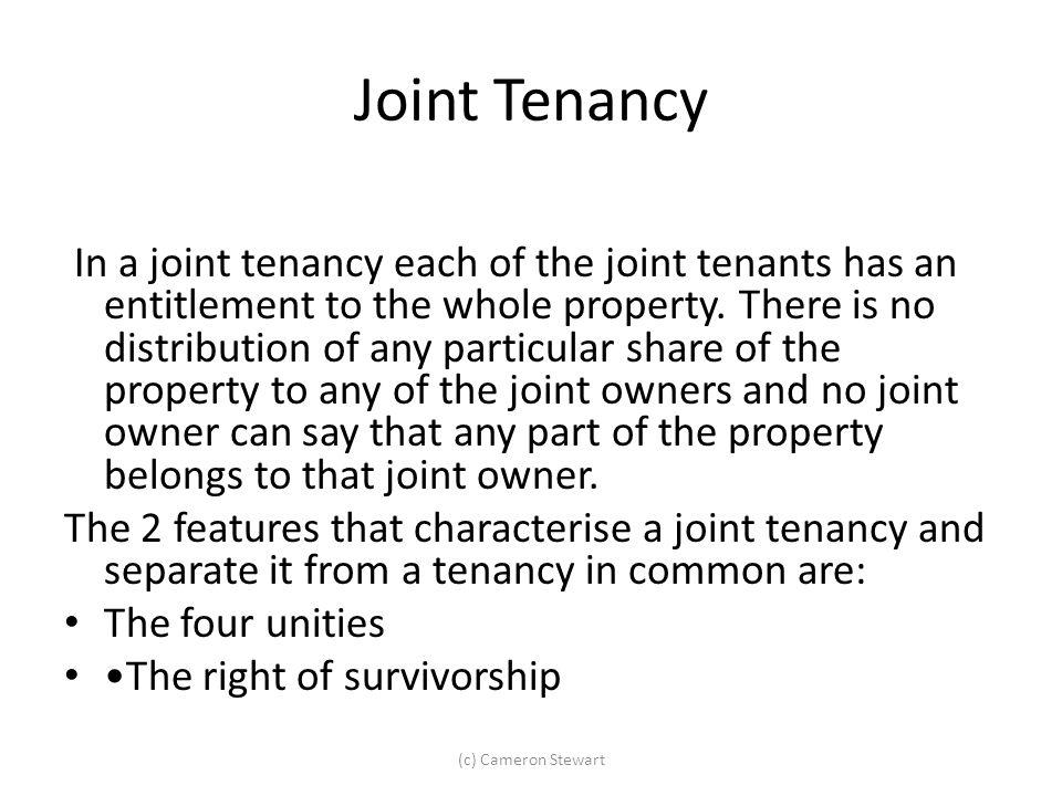 Joint Tenancy